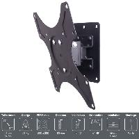 Fixation - Support Tv - Support Mural Pour Tv WMB 100 Support TV mural orientable 17 a 37