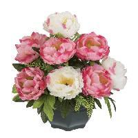Fleur-plante Artificielle - Fleur Sechee UNE FLEUR EN SOIE Coupe de pivoine - 29 cm