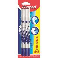 Flocon De Mais - Assemblage 6 stylos effaceurs pour encre bleue - 2 gratuits