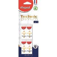 Flocon De Mais - Assemblage Carton de 4 Gommes Technic 600 Premium