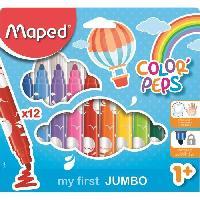 Flocon De Mais - Assemblage MAPED Boite Carton de 12 Feutres Color'peps Maxi