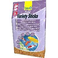 Flocons - Mash - Muesli Pond Variety Sticks 25l -Pal 32- pour poisson de bassin