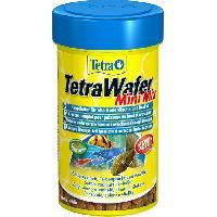 Flocons - Mash - Muesli TETRA Aliment complet Wafer Mini Mix - Pour petits poissons de fond herbivores et carnivores - 100ml