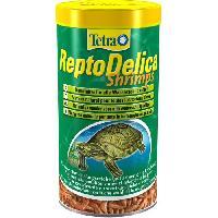 Flocons - Mash - Muesli Tetra Aliment tortue ReptoDelica Shrimps 1L