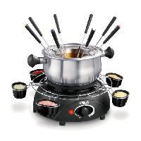 Fondue Electrique PRINCESS 172665 Appareil a fondue Fondue Family - Noir et Inox