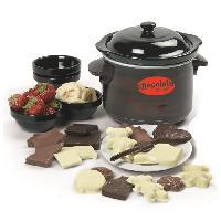 Fontaine A Chocolat DO915CH Fondue a chocolat avec moules - 70W - NoirMarron