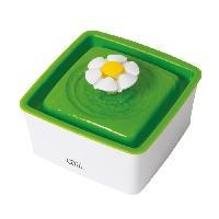 Fontaine A Eau CAT IT Abreuvoit mini avec fleur - 1.5 L -50.7 oz liq.- - Blanc et vert - Pour chat