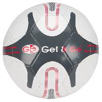 Football GET & GO Ballon de football - Blanc et gris Getgo