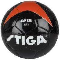 Football STIGA Ballon de football Star - Noir et orange - Taille 5