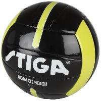 Football STIGA Ballon de football et volley Ultimate beach - Noir et jaune - Taille 4