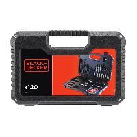 Foret - Meche BLACK et DECKER Coffret percage vissage avec 120 accessoires - Black & Decker