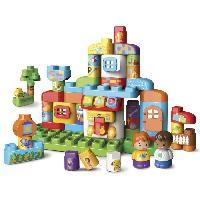 Forme A Trier - Forme A Agencer - Boite A Forme - Pyramide-gigogne Bla Bla Blocks - Ma Maison Alphabet Interactive - Des Blocs Parlants a Connecter pour Stimuler Bebe