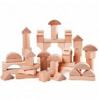 Forme A Trier - Forme A Agencer - Boite A Forme - Pyramide-gigogne Blocs de construction naturels - 50 pieces