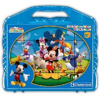 Forme A Trier Et A Agencer - Boite A Forme - Pyramide-gigogne CLEMENTONI - Puzzle 12 Cubes - Mickey