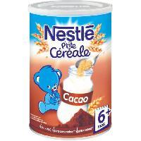 Franprix - Cereales - Bledine NESTLÉ P'tite Céréale Cacao - 400 g - Des 6 mois - Nestle
