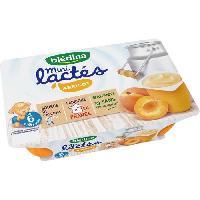 Franprix - Desserts Lactes BLEDINA Mini lactés Abricot - 6x55 g - De 6 a 36 mois