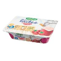Franprix - Desserts Lactes BLEDINA Mini lactés Framboise - 6x55 g - De 6 a 36 mois