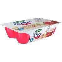 Franprix - Desserts Lactes Mini lactes fraise - 6 x 55g