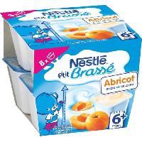 Franprix - Desserts Lactes NESTLÉ Ptit Brassé Abricot - 8x100 g - Des 6 mois - Nestle