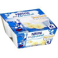 Franprix - Desserts Lactes NESTLÉ P'tit Brassé Banane - 4x100 g - Des 6 mois - Nestle