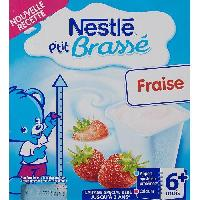 Franprix - Desserts Lactes NESTLÉ P'tit Brassé Fraise - 8x100 g - Des 6 mois - Nestle