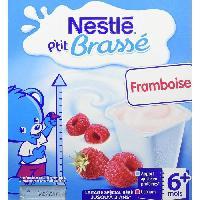 Franprix - Desserts Lactes NESTLÉ P'tit Brassé Framboise - 8x100 g - Des 6 mois - Nestle