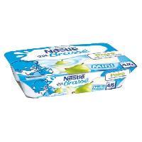 Franprix - Desserts Lactes NESTLÉ P'tit Brassé Mini poires - 6x60 g - Des 6 mois - Nestle