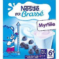 Franprix - Desserts Lactes NESTLÉ P'tit Brassé Myrtille - 8x100 g - Des 6 mois - Nestle