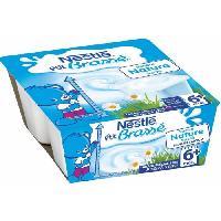 Franprix - Desserts Lactes NESTLÉ P'tit Brassé nature sucré - 4x100 g - Des 6 mois - Nestle