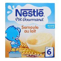 Franprix - Desserts Lactes NESTLÉ P'tit Gourmand Semoule au Lait - 4x100 g - Des 6 mois - Nestle