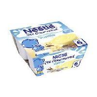 Franprix - Desserts Lactes NESTLÉ P'tit Gourmand saveur Vanille - 4x100 g - Des 6 mois - Nestle