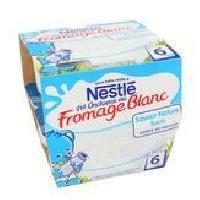 Franprix - Desserts Lactes NESTLÉ P'tit Onctueux Fromage Blanc Nature - 8x100 g - Des 6 mois - Nestle