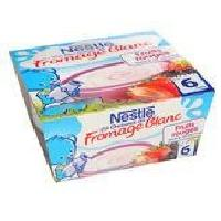 Franprix - Desserts Lactes NESTLÉ P'tit Onctueux Fromage blanc fruits rouges - 4x100 g - Des 6 mois - Nestle