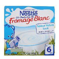 Franprix - Desserts Lactes NESTLÉ P'tit Onctueux au Fromage Blanc Saveur nature sucré 4x100g - Des 6 mois - Nestle