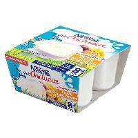 Franprix - Desserts Lactes NESTLÉ Ptit Onctueux au fromage blanc Fruits exotiques - 4x100 g - Des 8 mois - Nestle