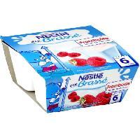 Franprix - Desserts Lactes NESTLÉ P'tit brassé Framboise - 4x100 g - Des 6 mois - Nestle