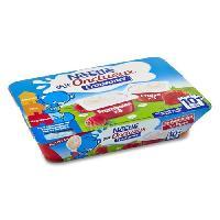 Franprix - Desserts Lactes Pack de 6 desserts lactes - Framboise et fraise P'tit Onctueux - Des 10 mois - 6 x 60 g