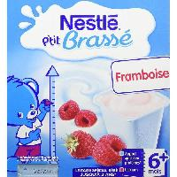 Franprix - Desserts Lactes P'tit Brasse Framboise - 8 x 100g