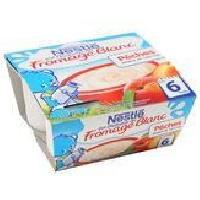 Franprix - Desserts Lactes P'tit Onctueux Fromage Blanc Peches - 4 x 100g