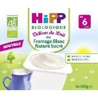 Franprix - Gouter Et Desserts Fromage blanc nature sucre - 4 x 100g - 6 mois