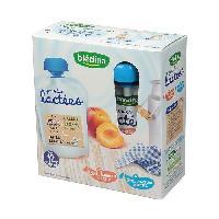 Franprix - Gouter Et Desserts Gourdes lactees peche abricot - 4 x 85g