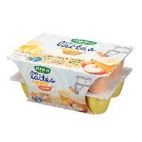 Franprix - Gouter Et Desserts Mini lactes 6x banane 6x pomme - 12 x 55g