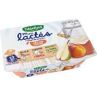 Franprix - Gouter Et Desserts Mini lactes croissance peche poire - 6 x 55g