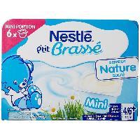 Franprix - Gouter Et Desserts NESTLÉ P'tit Brassé Nature - 8x100 g - Des 4/6 mois - Nestle
