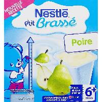 Franprix - Gouter Et Desserts NESTLÉ P'tit Brassé Poire - 8x100 g - Des 6 mois - Nestle