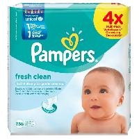 Franprix - Hygiene Fresh Clean 4 Paquets x256 lingettes bebe