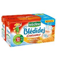 Franprix - Lait Aromatise Biscuit Bledidej Croissance Biscuite Miel - 4 x 250ml