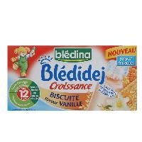 Franprix - Lait Aromatise Bledidej lait et cereales vanille biscuit 4x250ml