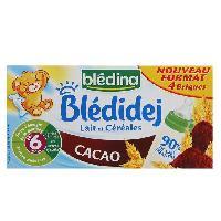 Franprix - Lait Et Cereales BLEDIDEJ Cacao 6 mois 4x250ml -x1-