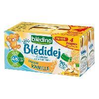 Franprix - Lait Et Cereales BLEDINA Blédidéj Céréales au lait de suite saveir Vanille - 4x250 ml - Des 6 mois